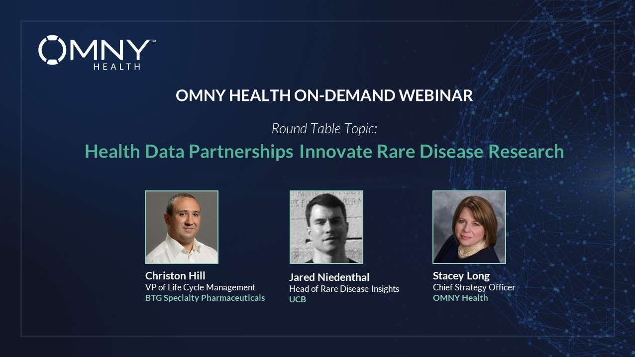 OMNY Health On-Demand Webinar: Health Data Partnerships Innovate Rare Disease Research